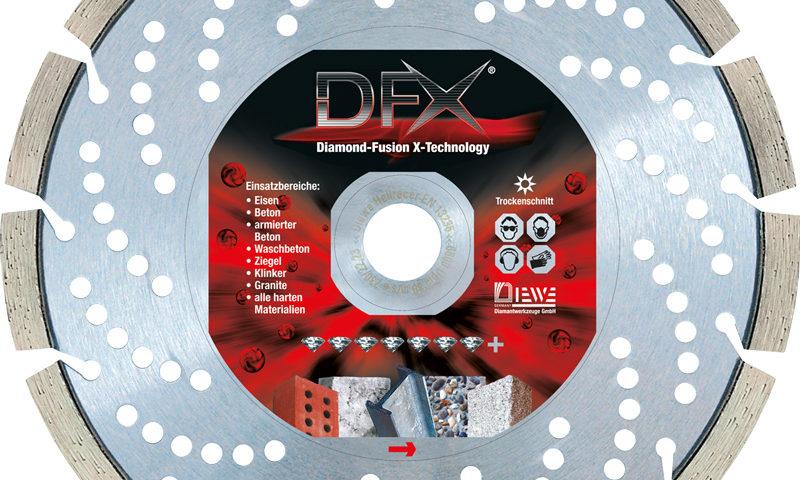 Diamond cutting disc DFX