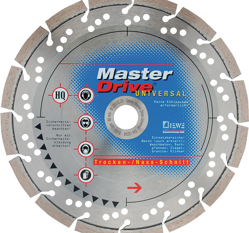 Diamond cutting disc Master Drive Universal