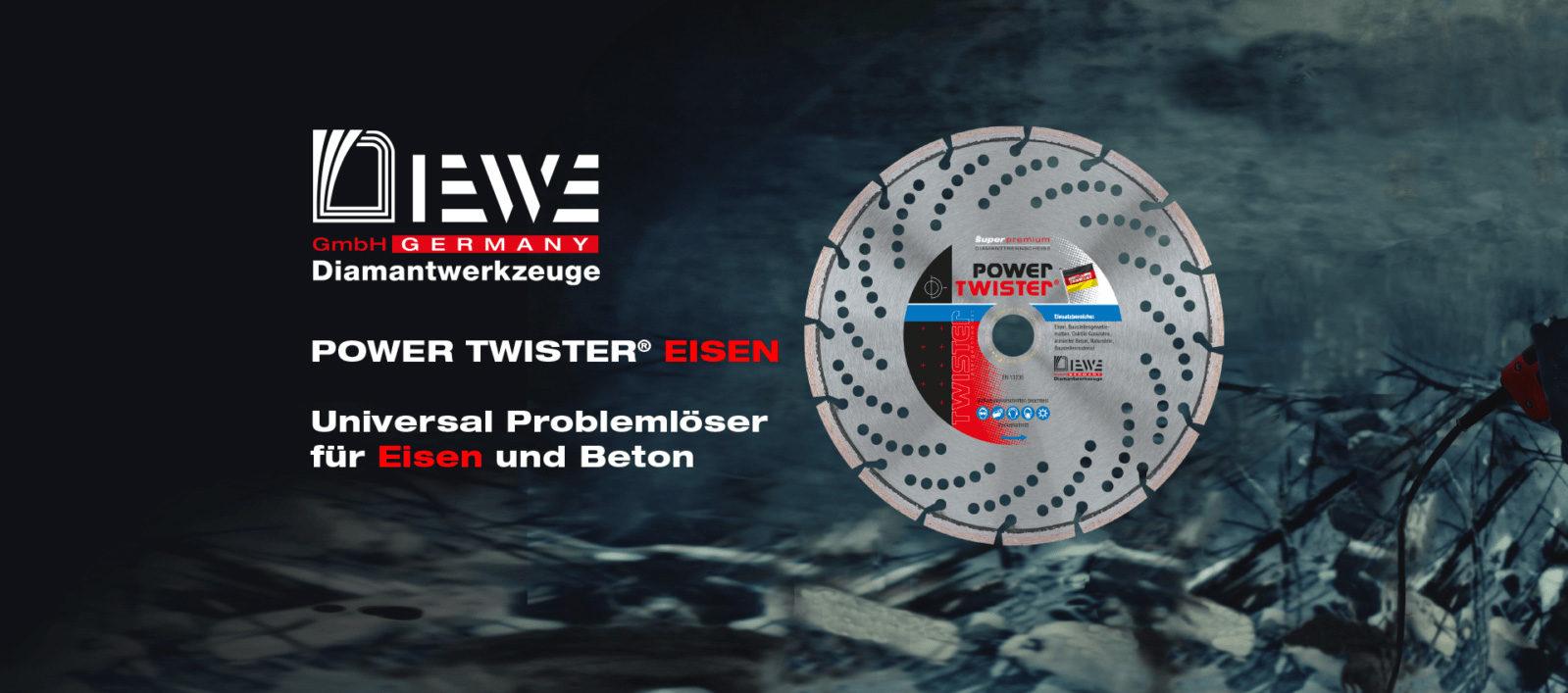 Diamanttrennscheibe Power Twister Eisen